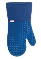 "13"" T-Fal Blue Silicone Oven Mitt"
