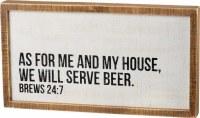 """20"""" x 11"""" Will Serve Beer Plaque"""
