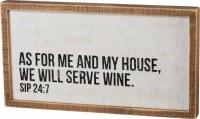 "20"" x 11"" Will Serve Wine Plaque"