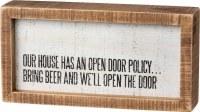 """8"""" x 4"""" Open Door Policy Plaque"""