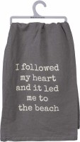 "28"" Square Lead To BEach Kitchen Towel"