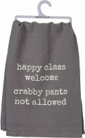 "28"" Square Happy Clams Kitchen Towel"