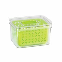 "7"" x 5"" Clear Bin With Green Basket"