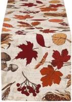 "14"" x 72"" Reversible Autumn Botanical Runner"
