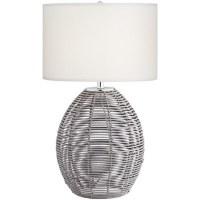 "29"" Gray Basket Table Lamp"