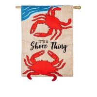 "29"" x 43"" Shore Thing Red Crab Flag"