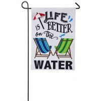 "12"" x 18"" Mini Life Is Better Water Flag"