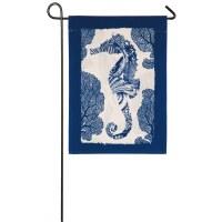 """12"""" x 18"""" Mini Blue Seahorse Flag"""