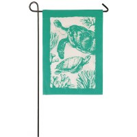 "12"" x 18"" Mini Green Sea Turtles Flag"