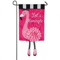 """12"""" x 18"""" Mini Lets Flamingle Flag"""