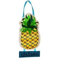 """14"""" x 22"""" Pineapple Welcome Door Hanger"""