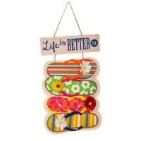 """13"""" x 22"""" Life Is Better In Flip Flops Door Hanger"""
