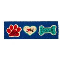"""9"""" x 28"""" Live Love Bark Coir Mat"""