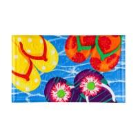 "18"" x 30"" Multocolored Flip Flop Embeded Doormat"