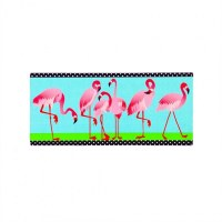 "10"" x 22"" 6 Flamingos Insert Mat"