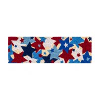 "9"" x 28"" Red White and Blue Coir Mat"