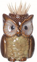 "3"" Yellow Owl Toothpick Holder"