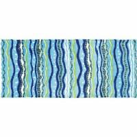 2.2' x 5' Wavy Stripes Rug