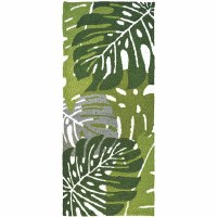 1.9' x 4.6' Monstera Leaves Rug