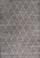 3.3' x 5.3' Gray Boho Landscape Rug
