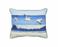 """10"""" x 13"""" Pelicans Over Water Pillow"""