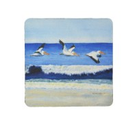 "4"" Square Pelicans Water Coaster"