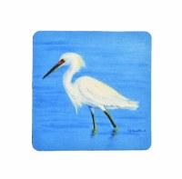 """4"""" Square Snowy Egret Coaster"""