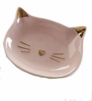 """3"""" Pink Cat Face Dish"""