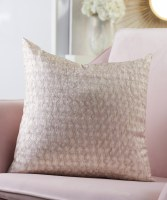 """16"""" Square Pink Textured Pillow"""