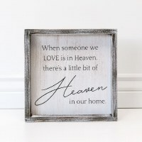 """10"""" Square When Someone Is In Heaven Wooden Plaque"""