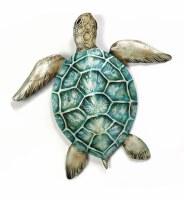 "16"" Green Sea Turtle Capiz Plaque"