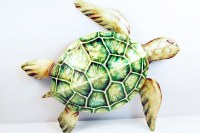"22"" Green Sea Turtle Capiz Plaque"