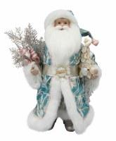 """16"""" Coastal Blue Santa With Shell Tree"""