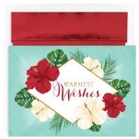 """Box of 18 8"""" x 6"""" Tropical Floral Cards"""