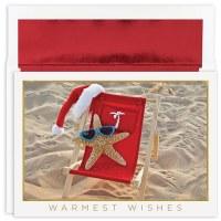 "Box of 18 8"" x 6"" Starfish Santa Cards"
