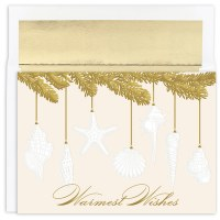 "Box of 18 8"" x 6"" Shell Ornament Cards"