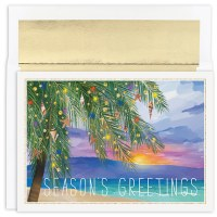 """Box of 18 8"""" x 6"""" Tropical Sunset Cards"""