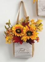 "15"" Sunflower Fall Greeting Wall Bag"