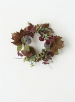 """4"""" Purple and Green Fall Candle Ring"""