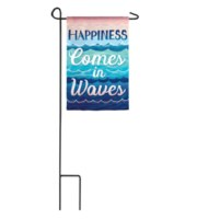 Mini Happiness Comes In Waves Flag