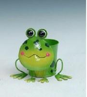 "8"" Green Frog Metal Pot"