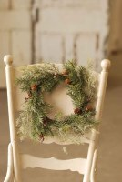 6' Gray and Green Pine Candle Ring