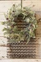 "20"" White Bell Pine Wreath"