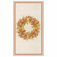 "8"" x 5"" Harvest Wreath Guest Towel"