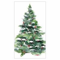 "8"" x 5"" Winter Tree Guest Towel"