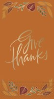 "8"" x 5"" Give Thanks Guest Towel"