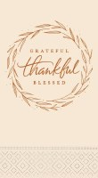 "8"" x 5"" Grateful Thankful Guest Towel"