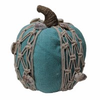 8' Torquoise Pumpkin With Net and Shells