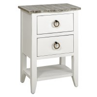 """18"""" Boardwalk Top With White Base 2 Drawer Table"""