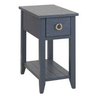 """14"""" Navy 1 Drawer Table"""